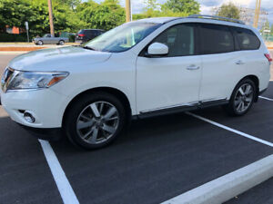 2013 NISSAN PATHFINDER PLATINUM FULLY LOADED 4WD WHITE