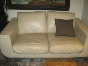 Real Leather Two Seated Couch