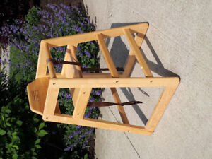 Natural Wood Baby / Toddler High Chair