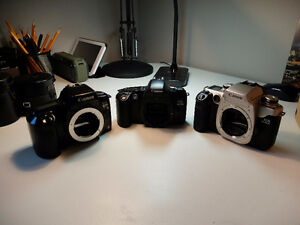 3 analog Canon slr's Rebel S Rebel 4 and Elan 2