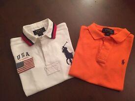 Ralph Lauren boys polo shirts age 4