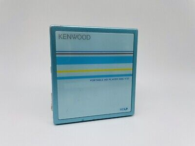 MD1964 working  KENWOOD PORTABLE MD PLAYER DMC-V33  Blue