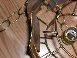 Brass? Artisanat LEC Montreal Hanging Ceiling Light Lamp Fixture West Island Greater Montréal image 3