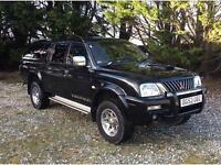 2003 53 MITSUBISHI L200 2.5 TD 4WD LWB WARRIOR LEATHER NO VAT DCB 114 BHP DIESEL