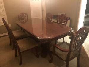 dinnering-set (extendable dinning table and 6 chairs)