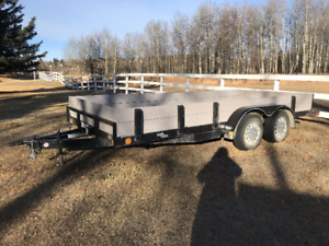 16 foot flat deck in new condition