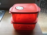 Tupperware Rock n Serve 2 x 1L containers
