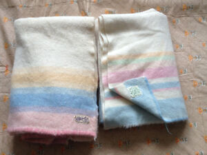 TWO VINTAGE PURE WOOL BLANKETS