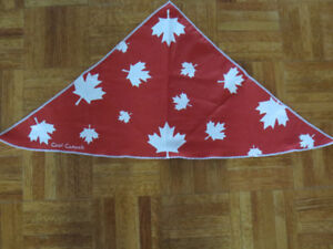 Cooling Bandana Cool Canuck  Canada Maple Leaf Red White 34 x 22