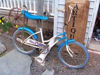 Vintage Bike With Banana Seat and Monkey Bars