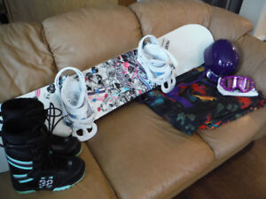 Womens Snowboard Package (6 Pieces)