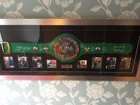 Signed, framed WBC belt boxing