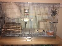 Metal Cage for Chinchillas,rabbits,degu,rats or other smal animals