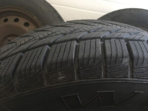 RoadJoy 235/60/R18 winter tires for sale, on rims. Like new.