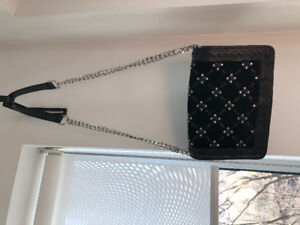Zara leather purse with silver studs