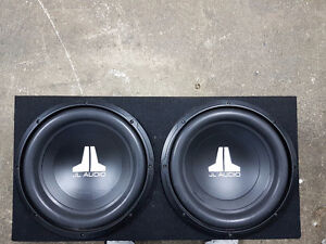 JL Audio 12Wov3 Subs and box. Also JL Audio XD600/1