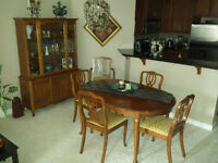 Lovely apartment sized formal dining set