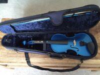 Blue full size violin
