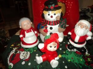 Christmas  Ceramic Décor Figurines Sussex