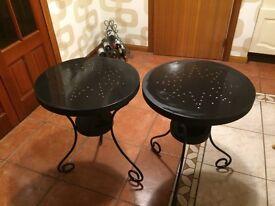 Ikea round metal tables x 2