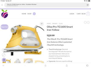 Oliso Iron TG1600 smart iron