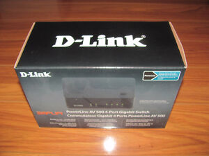NEW D-Link DHP-540 Powerline Av 500 4-Port Gigabit Switch