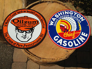 WASHINGTON GASOLINE & OILZUM OIL PUMP PLATES - PARKER PICKERS -