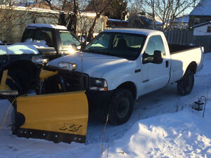 2002 Ford F-350 Pickup Truck with 8.5' Fisher V plow