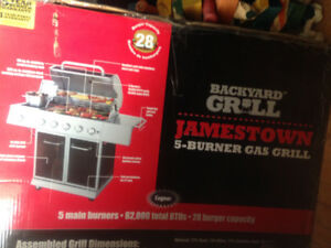 backyard grill bbq with 5 burners, total 62,000btu