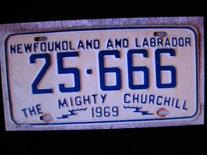 NFLD LICENCE PLATES