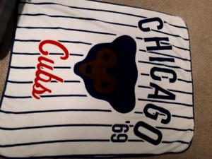 Chicago Cubs Wrigley field fleece blanket