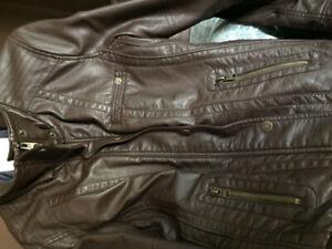 Leather jacket brand new women's