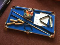 3ft mini pool table with all extras, boxed.