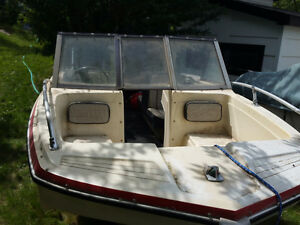 1974 Belvedere Tri-Hull Boat with Chrysler 75 HP Motor