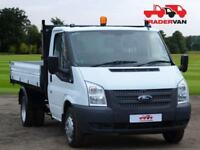 2015 FORD TRANSIT 2.2 TDCi T350 125ps Medium Wheel Base Single Cab Tipper DIESE