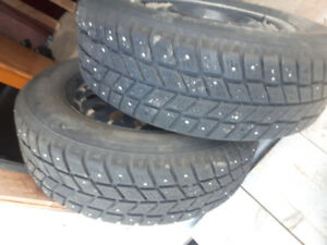 "Studded Tires 15"" and Rims 195/60-15"
