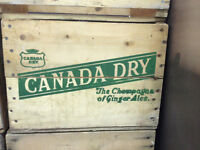 Vintage Wooden Beverage Crates; Retro Bottle Crates