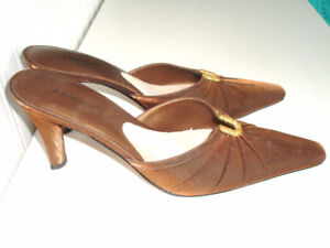 SATIN, FABRIC AND LEATHER BRAND NEW DESIGNER'S SHOES 9 1/2 M