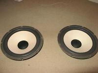 VINTAGE PHILLIPS 10 inch REFOAMED SPEAKERS WITH PACKAGED BOXES