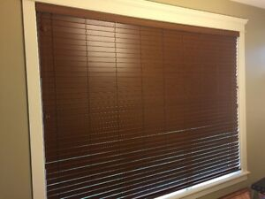 Faux Wood Window Coverings - LIKE NEW!