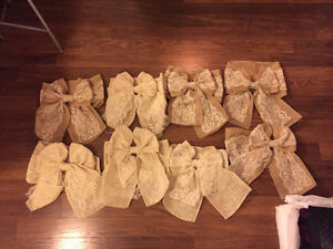Rustic Craft Bows for Wedding or Events