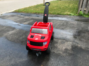 Step2 2-in-1 Ford F-150 SVT Raptor Push Buggy Ride-On-Red