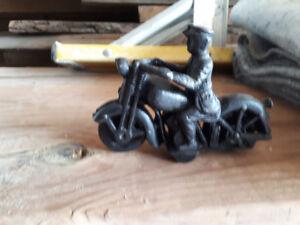 Antique cast iron Indian bike