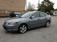 2004 Mazda 3 GT..Sunroof..Certified and E-Tested