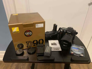 Nikon D90 DSLR Camera with accessories - LIKE NEW