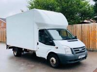 2011 FORD TRANSIT T350 LUTON BOX VAN+TAILIFT-2.4 TDCI 115 PS 6 SPEED-LONG W/BASE