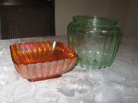 Carnival Ware glass candy dishes