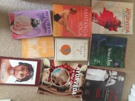 Lots of yoga books £2