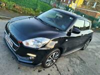 2019 SUZUKI SWIFT 1.2 ATTITUDE DUALJET 2K MILEAGE BLACK 5 DOOR - BARGAIN