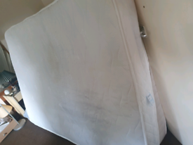 Double bed mattress memory foam layer and micro coil